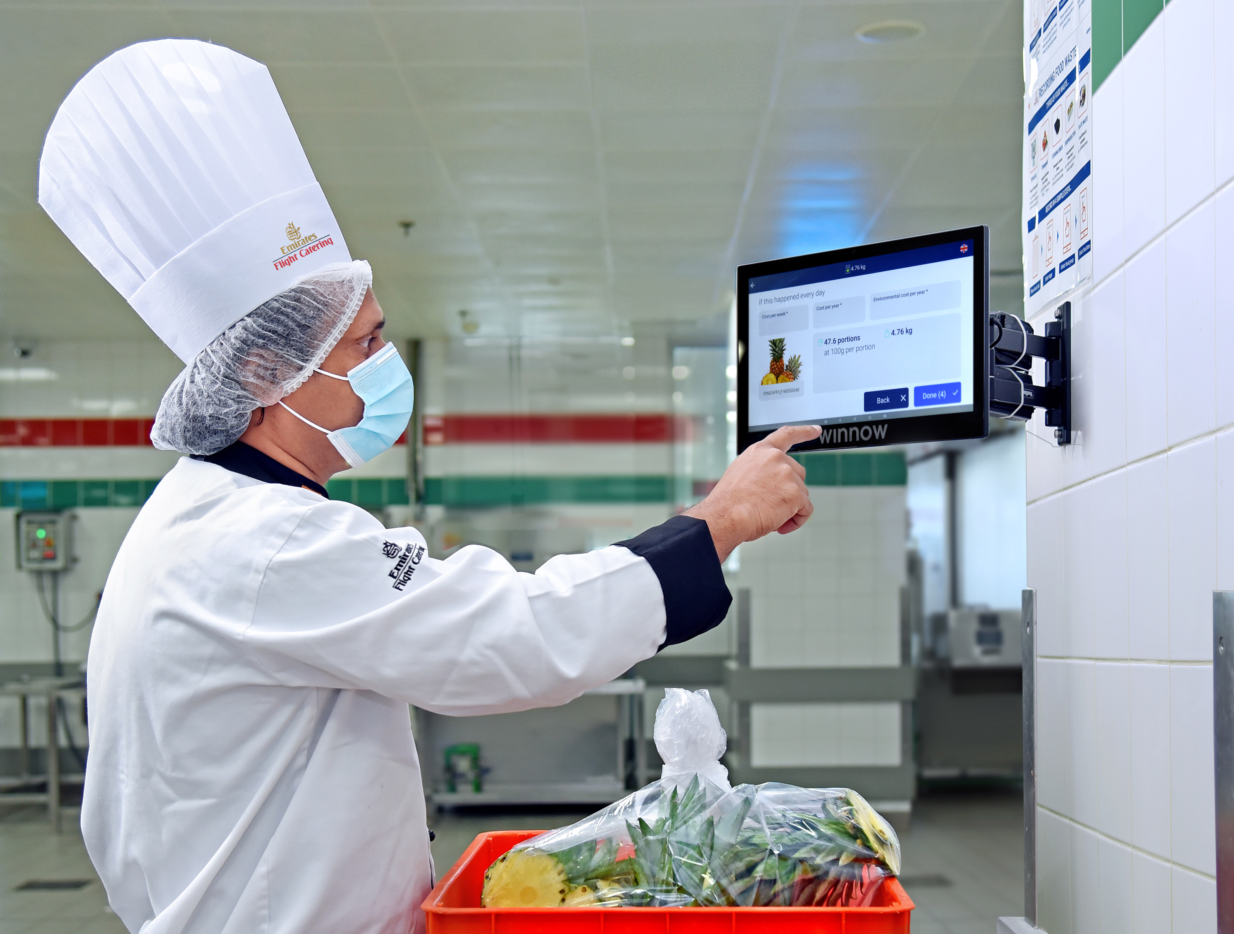 EKFC chef users Winnow Vision to record and track food wastage